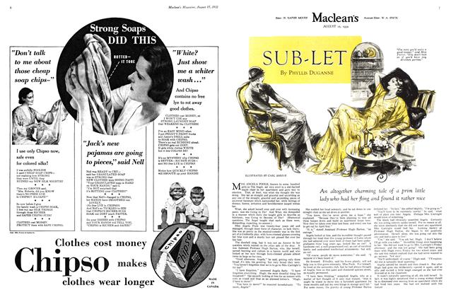 Article Preview: SUB-LET, August 15 th 1932 1932 | Maclean's