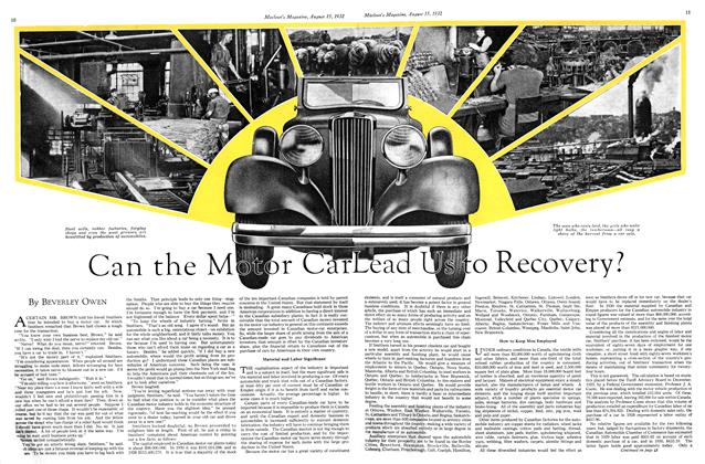 Article Preview: Can the Motor Car Lead Us to Recovery?, August 15 th 1932 1932 | Maclean's