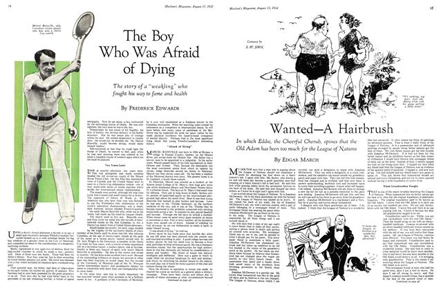 Article Preview: The Boy Who Was Afraid of Dying, August 15 th 1932 1932 | Maclean's