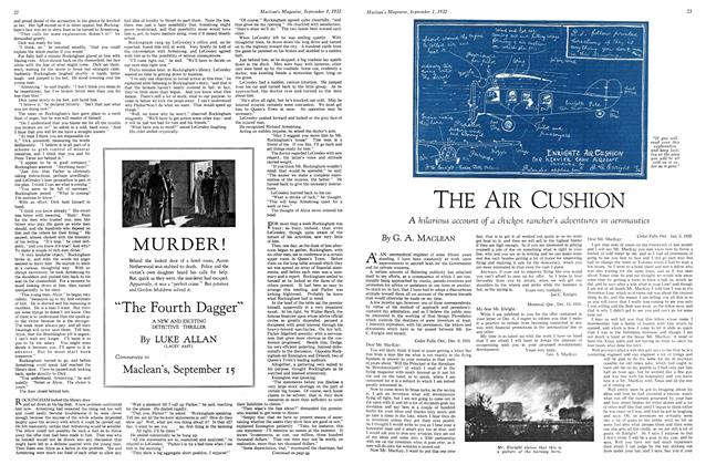 Article Preview: THE AIR CUSHION, SEPTEMBER 1st, 1932 1932 | Maclean's