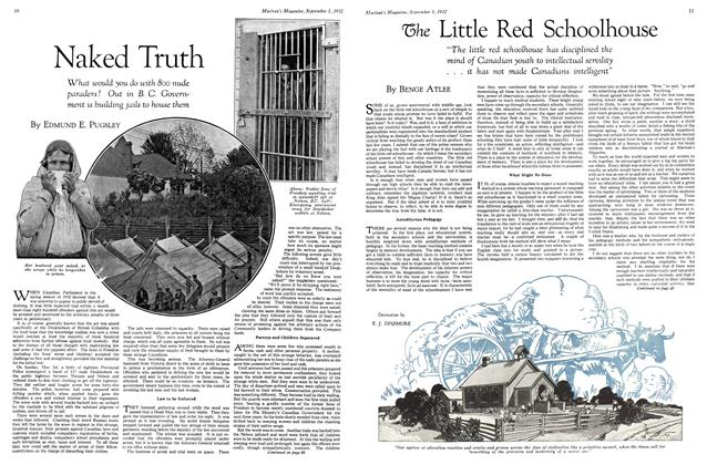 Article Preview: The Little Red Schoolhouse, SEPTEMBER 1st, 1932 1932 | Maclean's