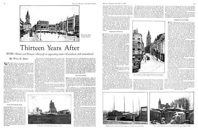 Article Preview: Thirteen Years After, September 15th 1932 1932 | Maclean's