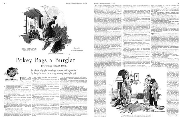 Article Preview: Pokey Bags a Burglar, September 15th 1932 1932 | Maclean's