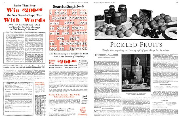Article Preview: PICKLED FRUITS, September 15th 1932 1932 | Maclean's
