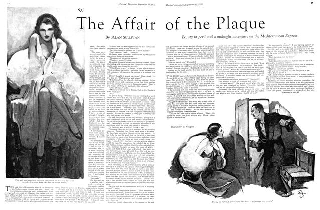 Article Preview: The Affair of the Plaque, September 15th 1932 1932 | Maclean's