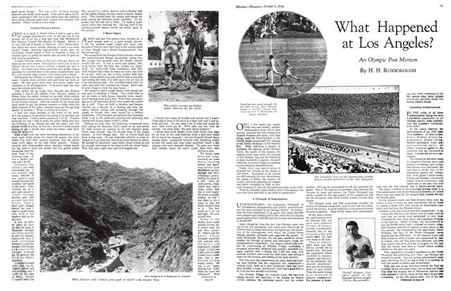 Article Preview: What Happened at Los Angeles?, October 1st 1932 1932 | Maclean's