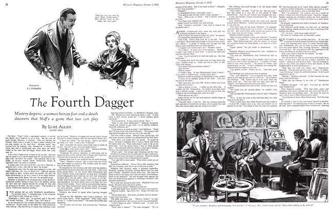 Article Preview: The Fourth Dagger, October 1st 1932 1932 | Maclean's