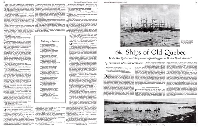 Article Preview: The Ships of Old Quebec, November 1st 1932 1932 | Maclean's