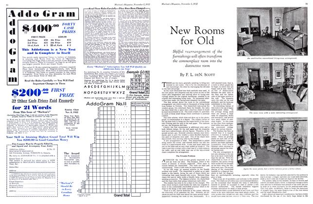 Article Preview: New Rooms for Old, November 1st 1932 1932 | Maclean's