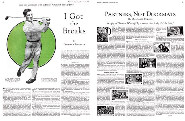 Article Preview: I Got the Breaks, November 1st 1932 1932 | Maclean's