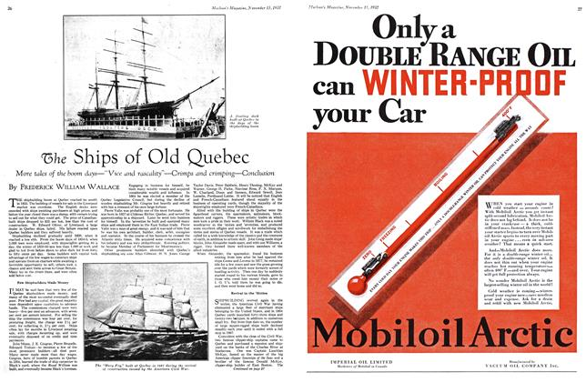 Article Preview: The Ships of Old Quebec, November 15TH 1932 1932 | Maclean's