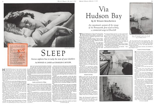Article Preview: SLEEP, December 1ST 1932 1932 | Maclean's