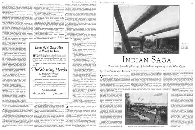 Article Preview: INDIAN SAGA, December 15TH 1932 1932 | Maclean's