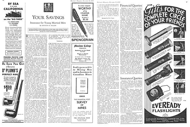 Article Preview: Insurance for Young Married Men, December 15TH 1932 1932 | Maclean's