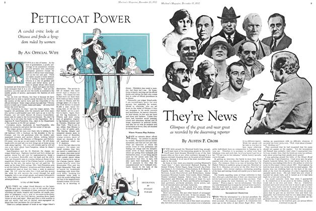 Article Preview: They're News, December 15TH 1932 1932 | Maclean's