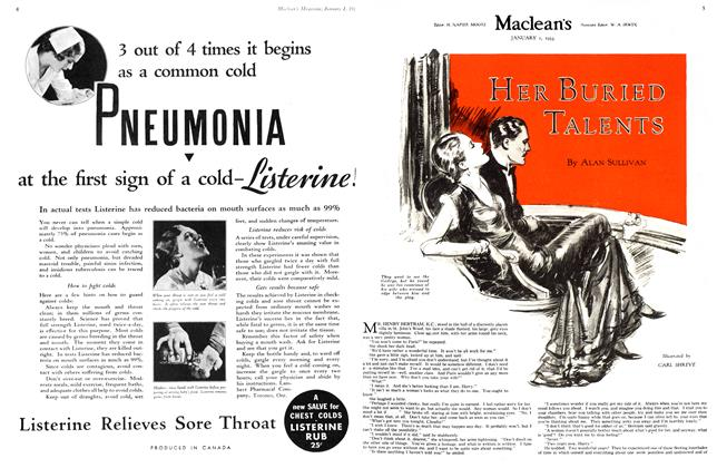 Article Preview: HER BURIED TALENTS, January 1st 1933 1933 | Maclean's