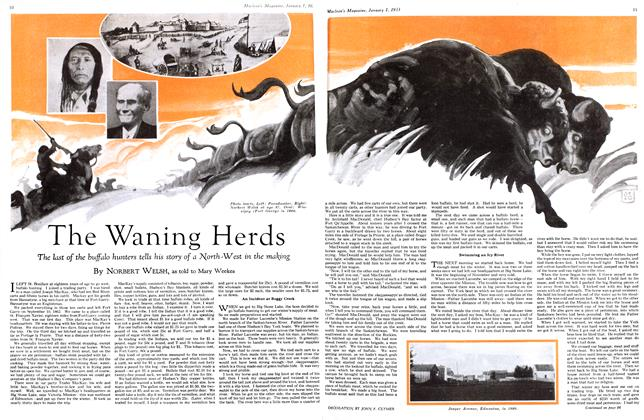 Article Preview: The Waning Herds, January 1st 1933 1933 | Maclean's