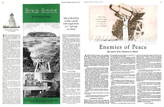 Article Preview: BIRD ROCK, January 1st 1933 1933 | Maclean's