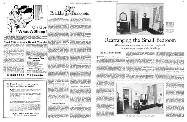 Article Preview: Rearranging the Small Bedroom, January 15TH 1933 1933 | Maclean's