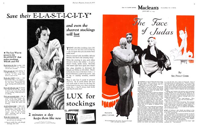 Article Preview: The Face of Judas, January 15TH 1933 1933 | Maclean's