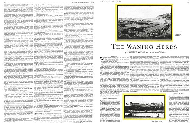 Article Preview: THE WANING HERDS, February 1ST 1933 1933 | Maclean's