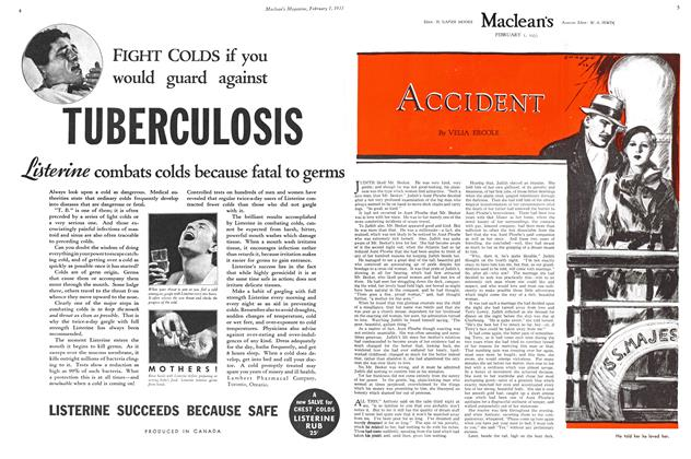 Article Preview: ACCIDENT, February 1ST 1933 1933 | Maclean's