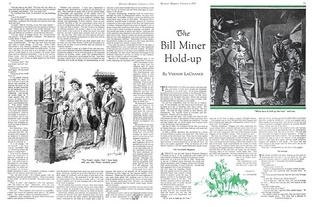 Article Preview: The Bill Miner Hold-up, February 1ST 1933 1933 | Maclean's
