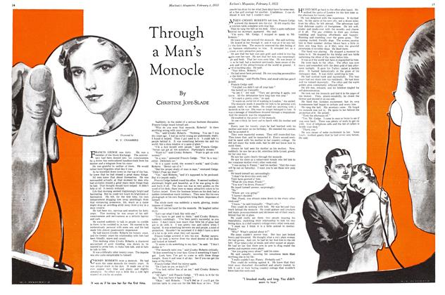 Article Preview: Through a Man's Monocle, February 1ST 1933 1933 | Maclean's