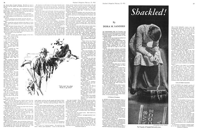 Article Preview: Shackled!, February 15TH 1933 1933 | Maclean's