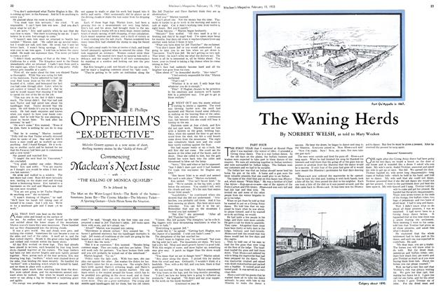 Article Preview: The Waning Herds, February 15TH 1933 1933 | Maclean's