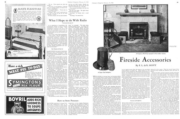 Article Preview: Fireside Accessories, February 15TH 1933 1933 | Maclean's