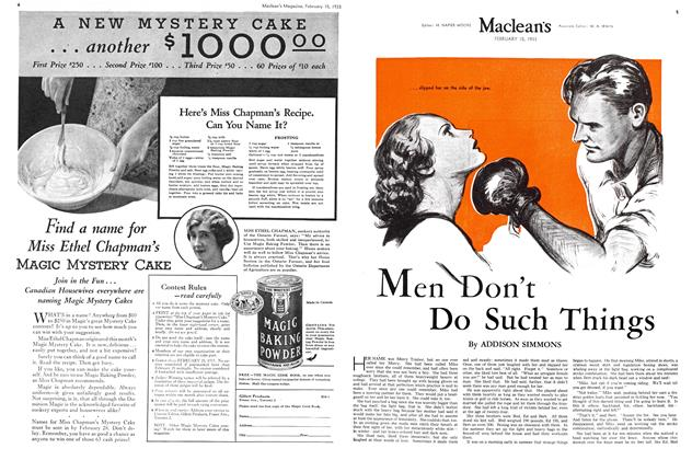 Article Preview: Men Don't Do Such Things, February 15TH 1933 1933 | Maclean's