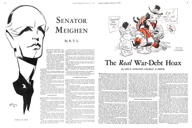 Article Preview: SENATOR MEIGHEN, February 15TH 1933 1933 | Maclean's