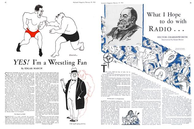 Article Preview: YES! I'm a Wrestling Fan, February 15TH 1933 1933 | Maclean's