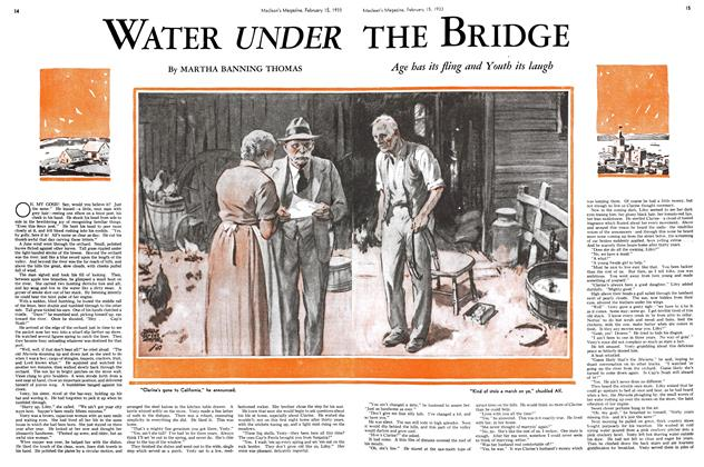 Article Preview: WATER UNDER THE BRIDGE, February 15TH 1933 1933 | Maclean's