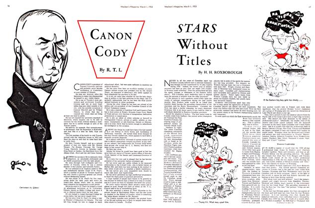 Article Preview: CANON CODY, March 1st 1933 1933 | Maclean's