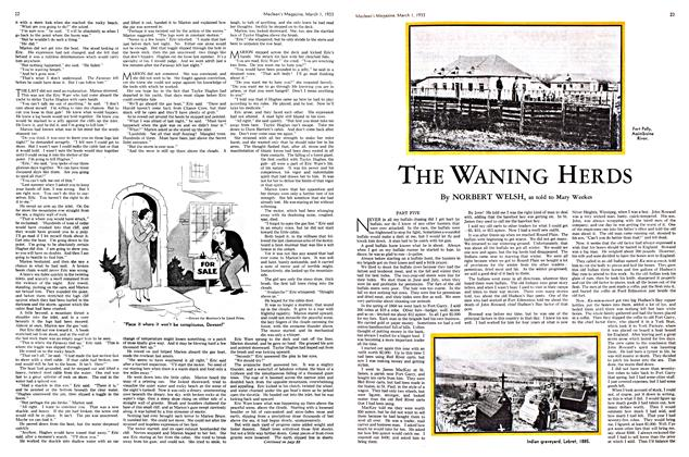 Article Preview: THE WANING HERDS, March 1st 1933 1933 | Maclean's