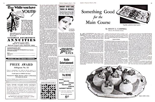Article Preview: Something Good for the Main Course, March 1st 1933 1933 | Maclean's