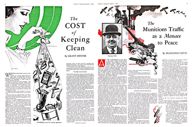 Article Preview: The Munitions Traffic as a Menace to Peace, March 1st 1933 1933 | Maclean's