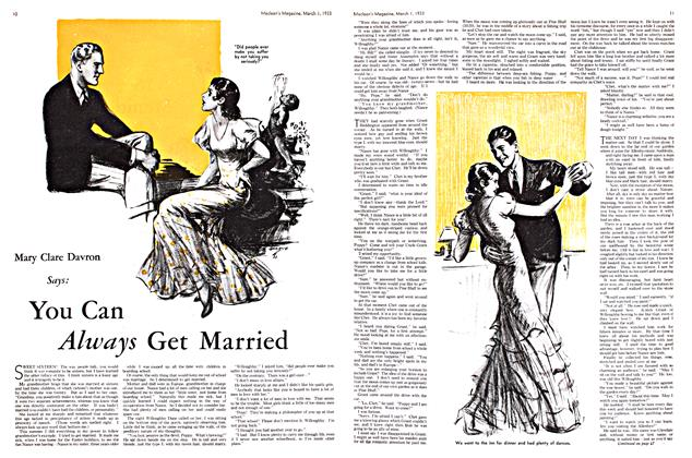 Article Preview: Mary Clare Davron Says: You Can Married, March 1st 1933 1933 | Maclean's