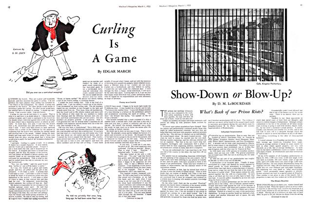 Article Preview: Curling Is A Game, March 1st 1933 1933 | Maclean's