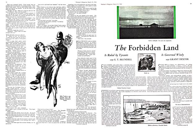 Article Preview: The Forbidden Land, March 15th 1933 | Maclean's