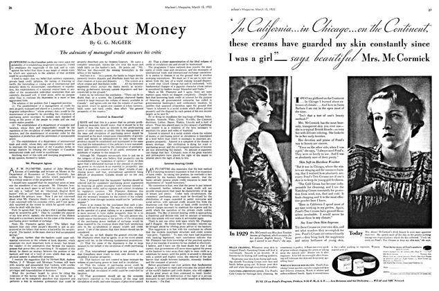 Article Preview: More About Money, March 15th 1933 | Maclean's