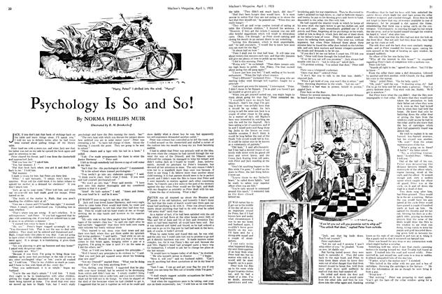 Article Preview: Psychology Is So and So!, April 1ST 1933 | Maclean's