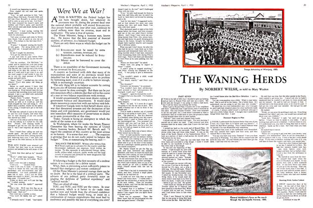 Article Preview: THE WANING HERDS, April 1ST 1933 | Maclean's