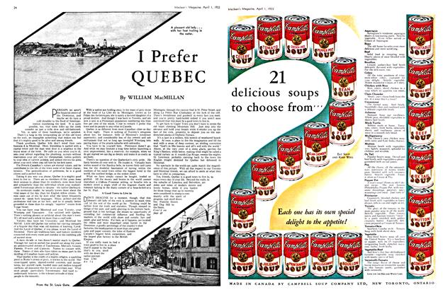 Article Preview: I Prefer QUEBEC, April 1ST 1933 | Maclean's