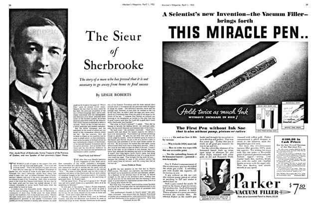 Article Preview: The Sieur of Sherbrooke, April 1ST 1933 | Maclean's