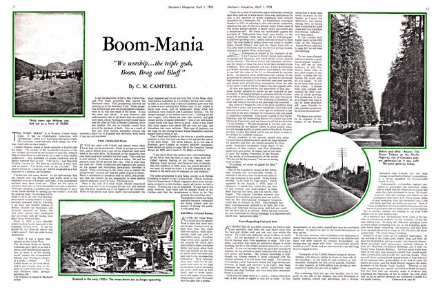 Article Preview: Boom-Mania, April 1ST 1933 | Maclean's