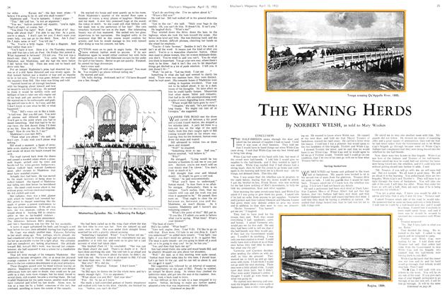Article Preview: THE WANING HERDS, April 15th 1933 | Maclean's