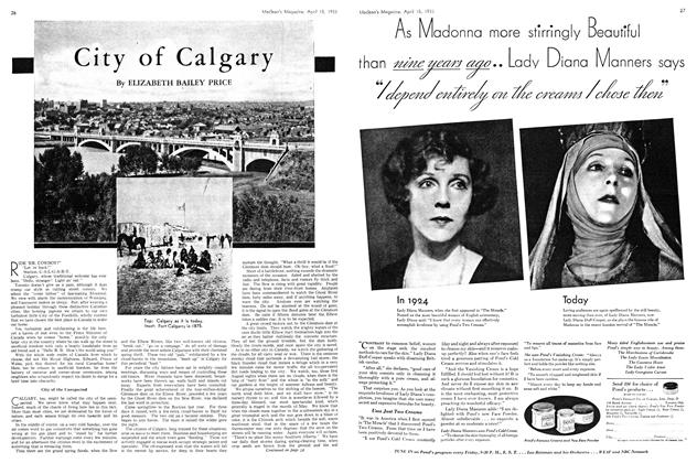 Article Preview: City of Calgary, April 15th 1933 | Maclean's